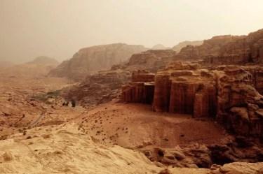 Petra von oben, Jordanien