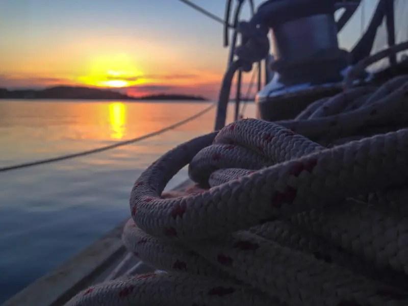 Sonnenuntergang Segeln