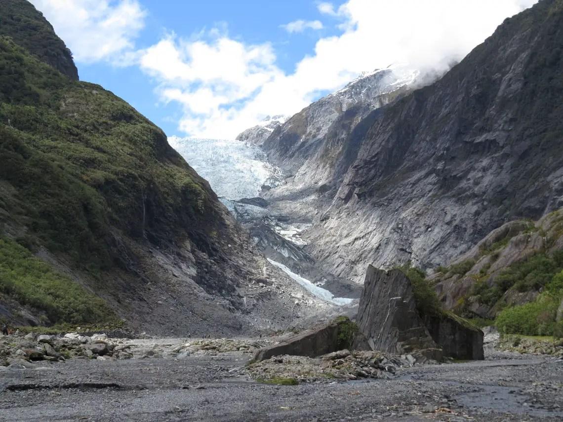 Blick auf den Franz Josef Gletscher