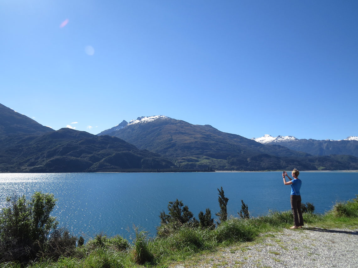 Am Lake Wanaka Neuseeland