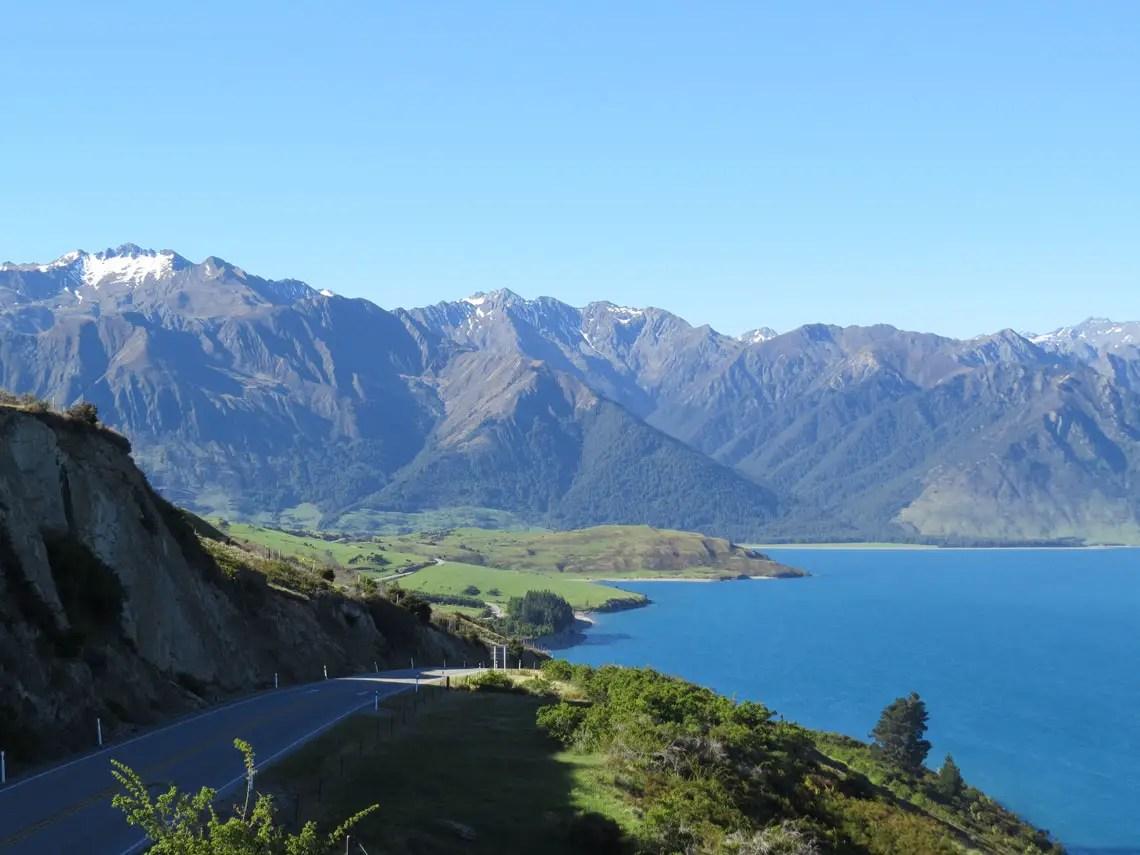 Ausblick auf Lake Wanaka Neuseeland