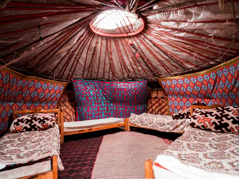 Karakyz Yurt tour Kazachstan, Kirgizië