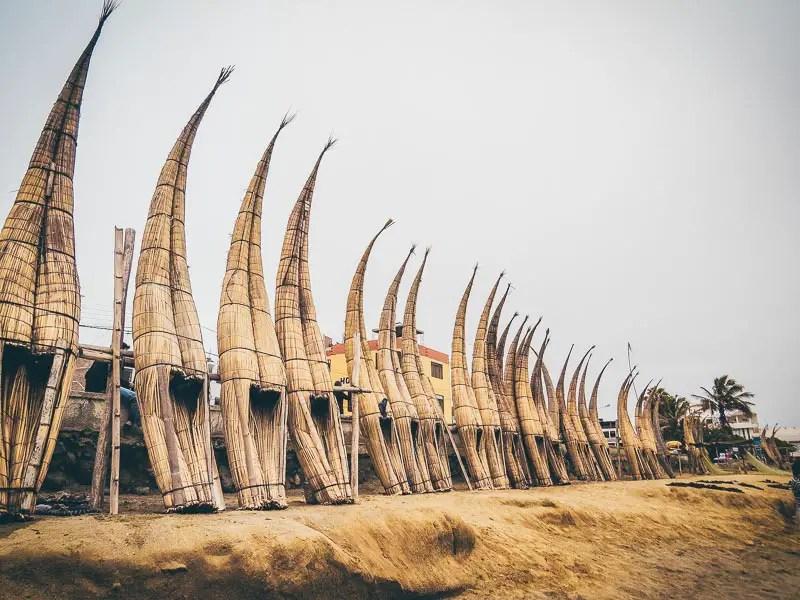 Peru Rundreise Huanchaco Schilfpferdchen