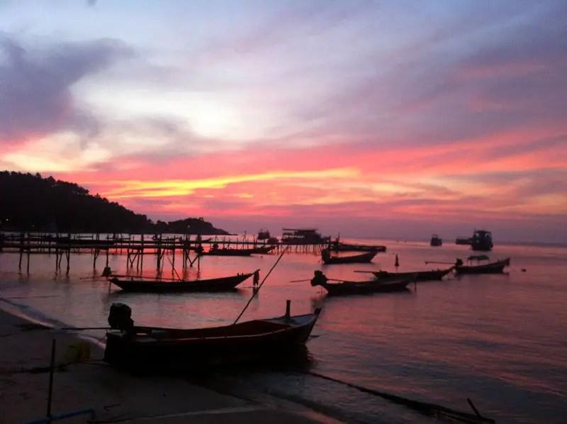 Thailand Sonnenuntergang
