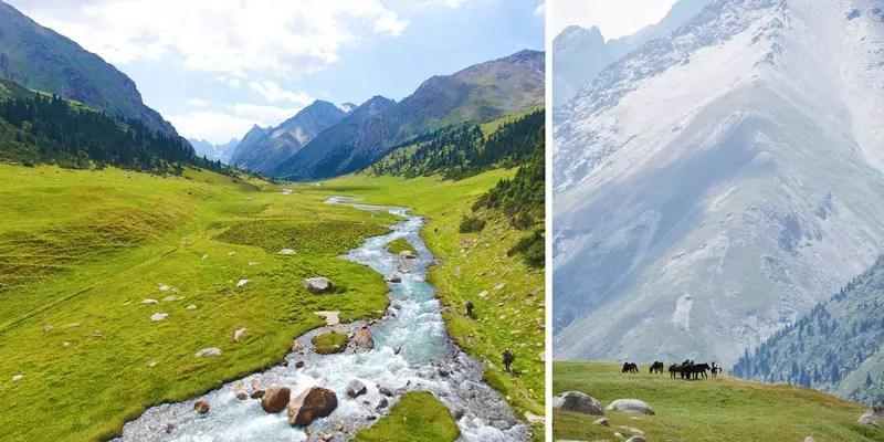 Weite Ebene in Kirgistan