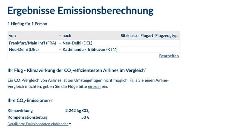 atmosfair emissions berechnung