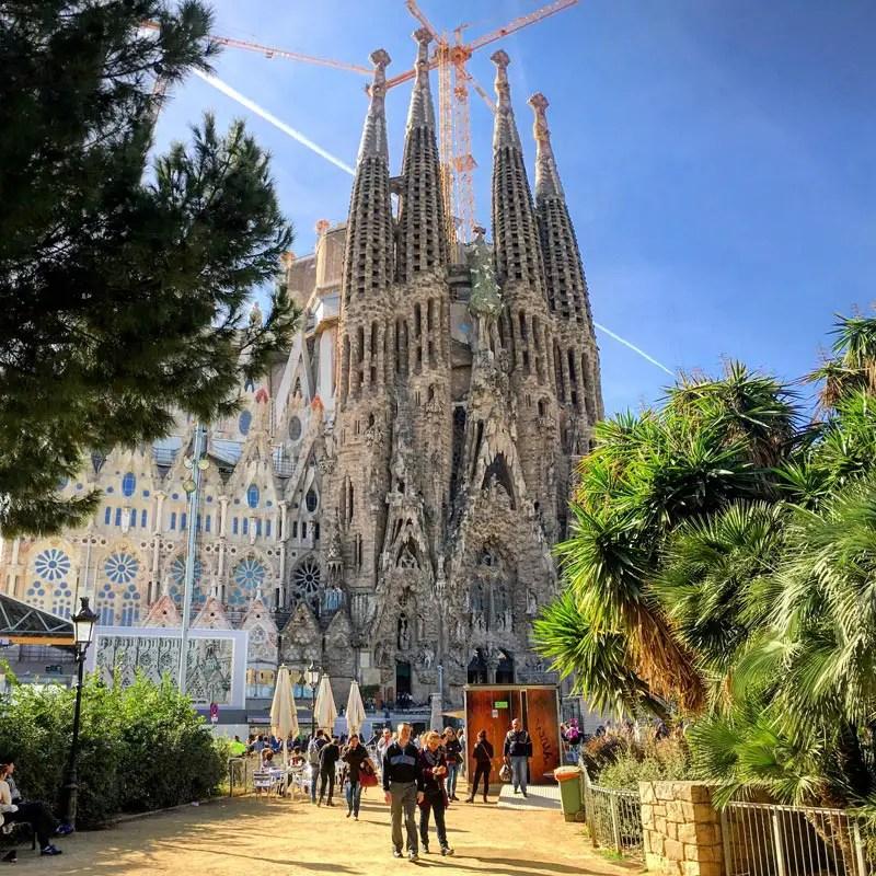 Die Fassade der Sagrada Familia