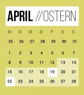Brückentage 2019 Ostern
