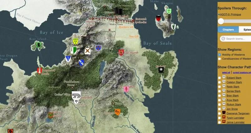 Karte Westeros