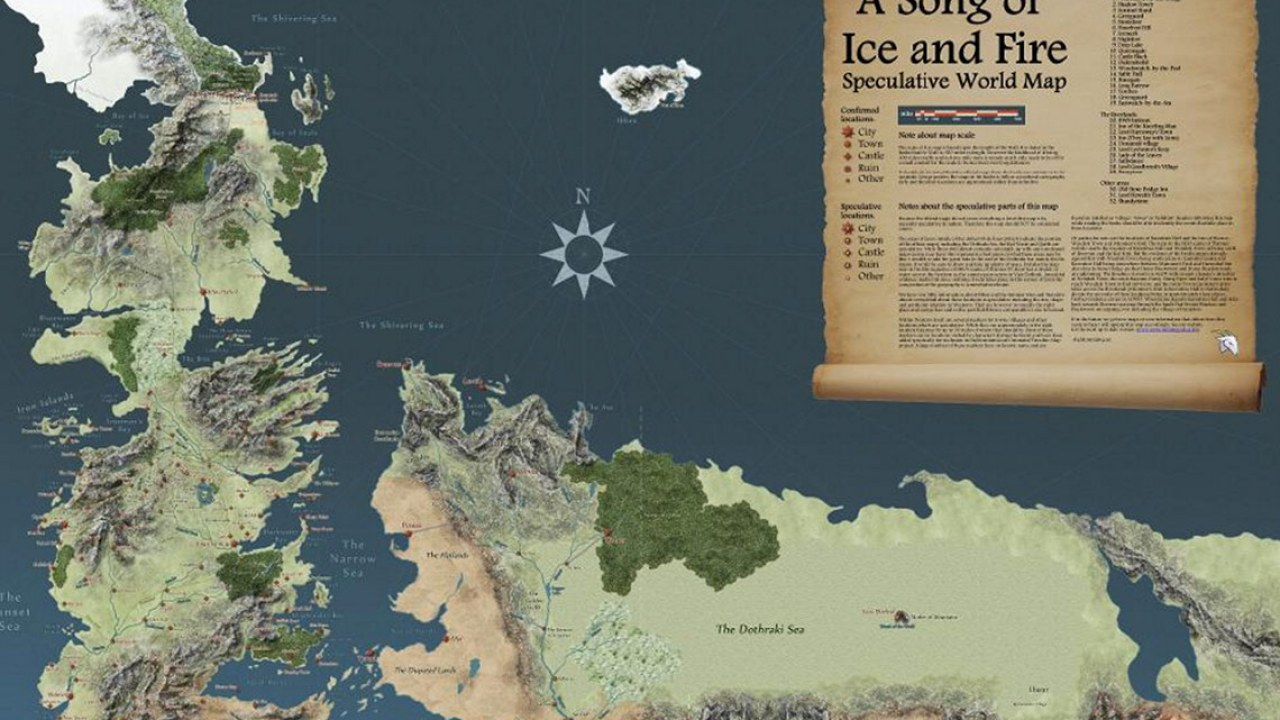 Detailed Map Of Game Thrones on