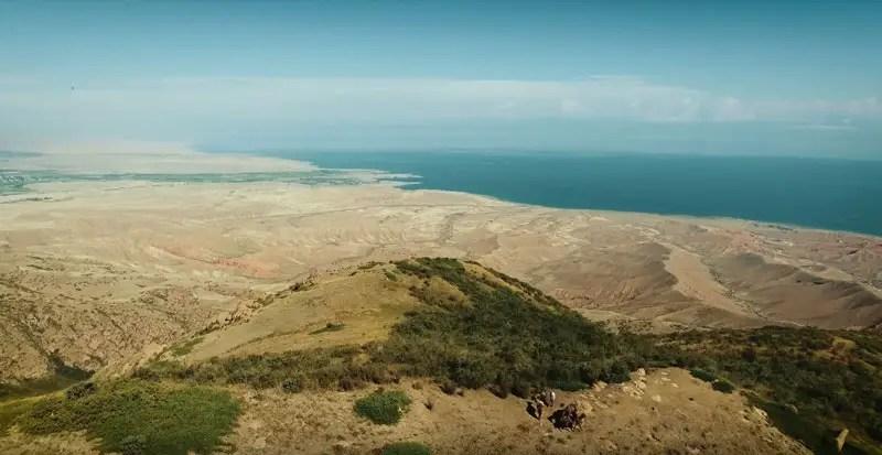Kirgistan Drohnenvideo Shatyly Panorama