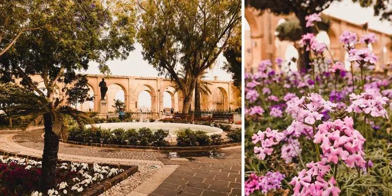 Malta Highlights Valletta Gardens