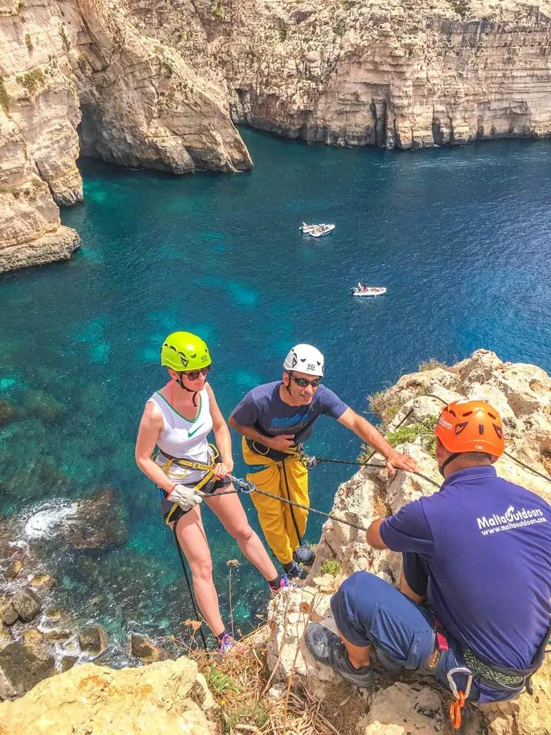 Malta Abseiling Blaue Grotte