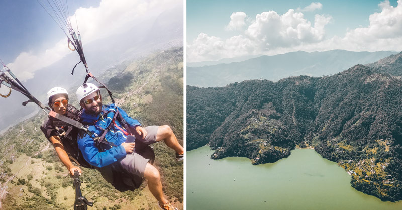 Pokhara Sehenswürdigkeiten Paragliding