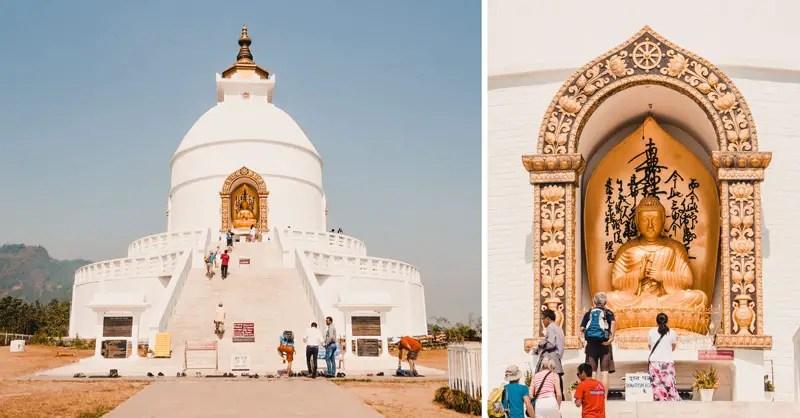 Pokhara Sehenswürdigkeiten World Peace Pagoda