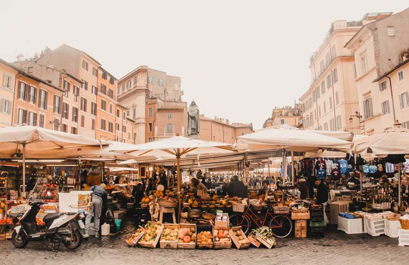 Rom Sehenswürdigkeiten Campo de Fiori