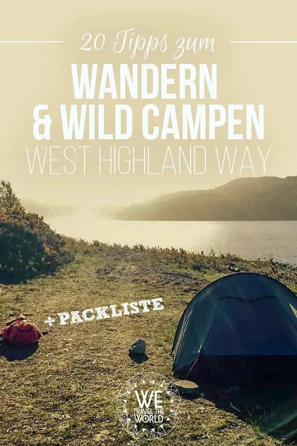 Schottland Reise: 20 Tipps für den West Highland Way. #reisetipps #trekking #schottland
