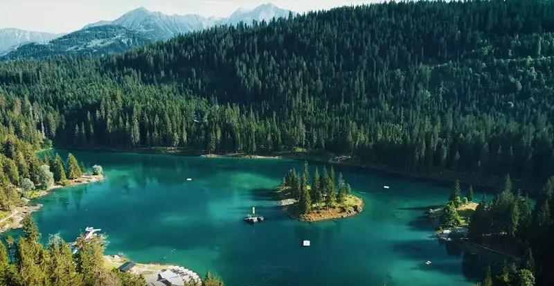 Schweiz Drohnenvideo Caumasee