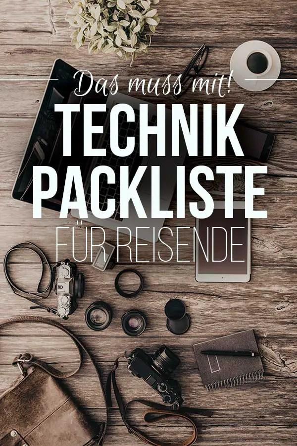 Packliste Urlaub – Diese Technik Packliste zeigt dir, was auf all unseren Reisen mit muss. #packliste #reise #technik