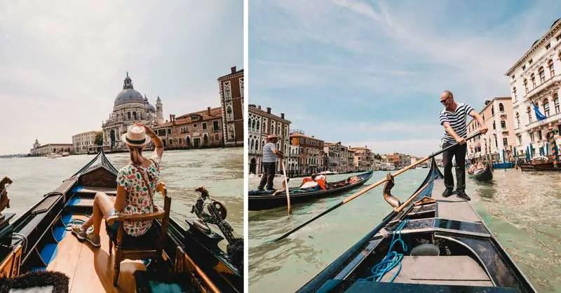 Venedig Sehenswürdigkeiten Gondelfahrt