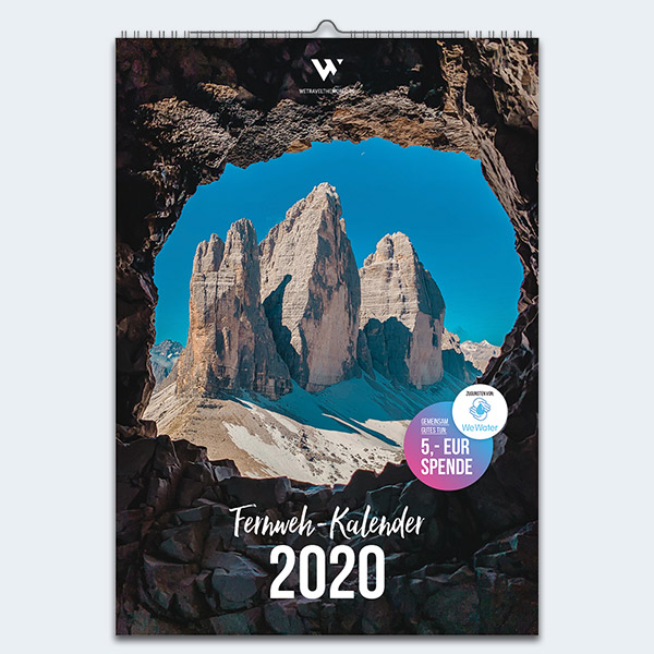 WE TRAVEL THE WORLD Fernweh Kalender 2020