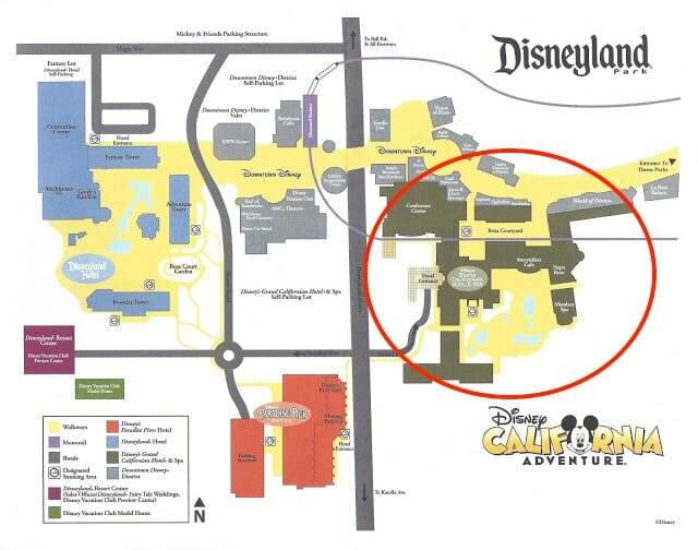 Disneyland with a Toddler Disneyland-Hotels-Map