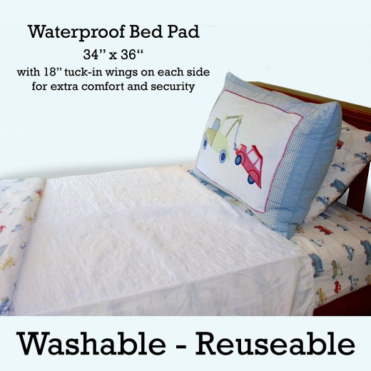 Wet-Stop waterproof mattress pad protects mattress and sheets from bedwetting, accidents, pets, and spills.