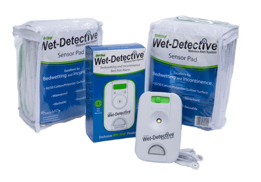 wet-detective bed pad alarm system