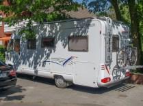 Sein Wohnmobil am 60sten Geburtstag