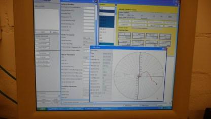 Das Computerprogramm der Meteosonde, die rote Linie beschreibt die Flugstrecke
