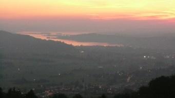 Der Sonnenuntergang spendet etwas Trost nach dem missglückten ersten Bergungsversuch