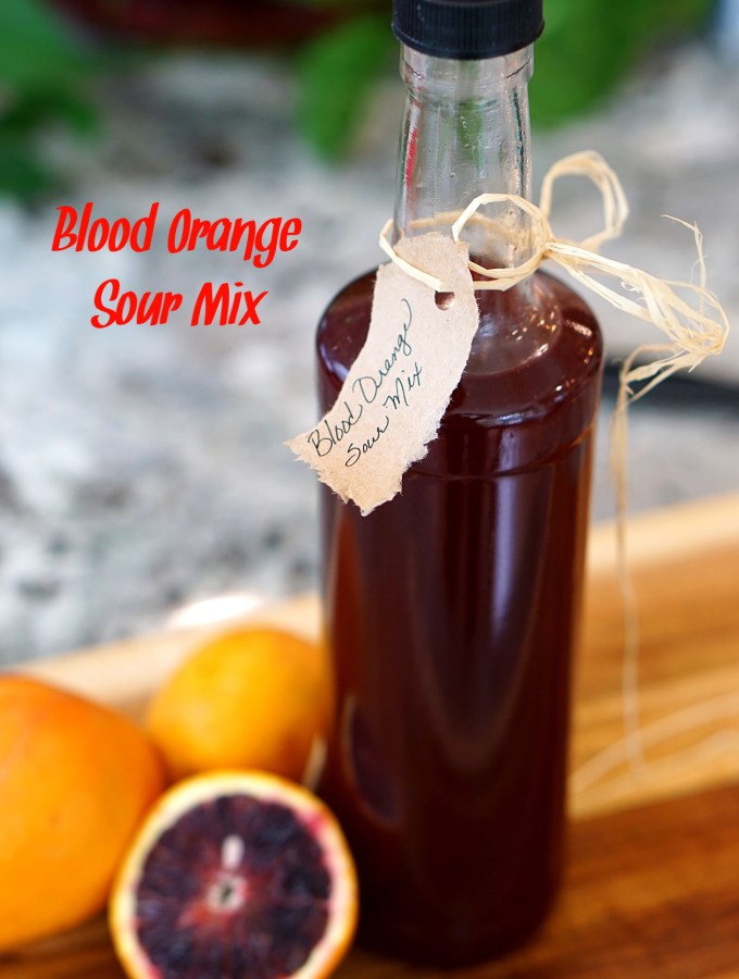 Blood Orange Sour Mix gives a flavorful twist to any cocktail that may require a sour mix. The intense orange flavor of a blood orange is accented by undertones of berries and pomegranate. ~By Wet Whistle Drinks by Darla Bentley
