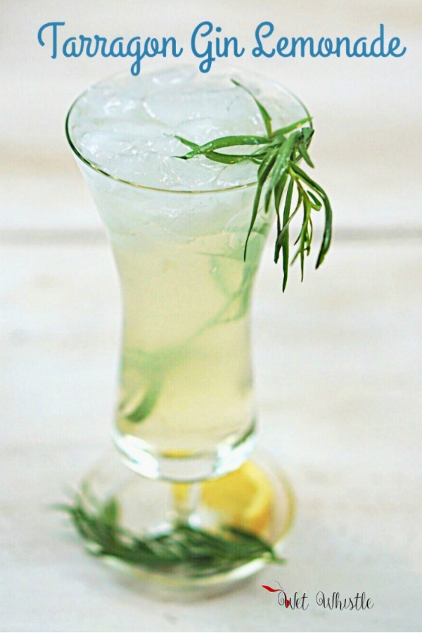 Tarragon Gin Lemonade exists on a higher plane than other gin and lemon cocktails. Its slight anise flavor enhances the lemon and highlights the herbaceous tones of the gin. Wet Whistle Drinks by Darla Bentley