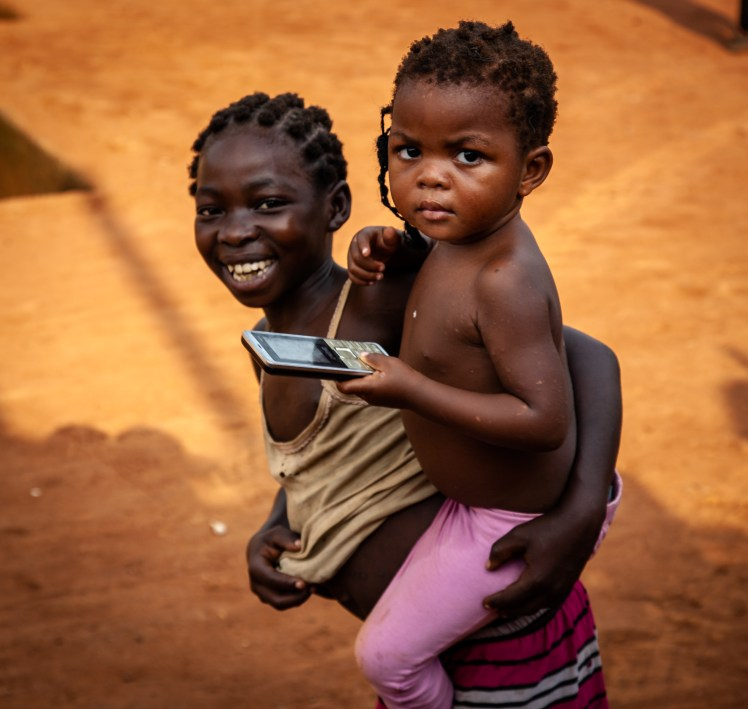 Kids at the border in Cameroon