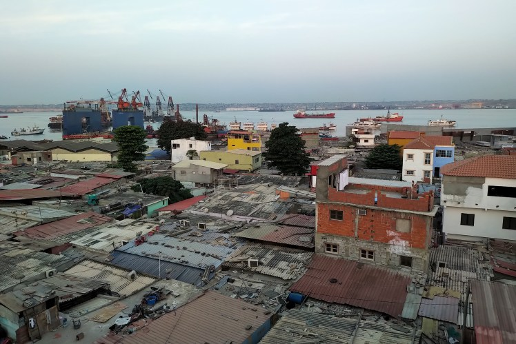 View of Luanda Bay and the crumbling infrastructure that oil money has overlooked.