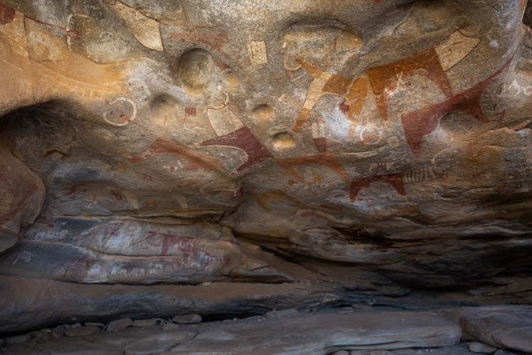 The cave paintings of Las Geel, Somaliland.