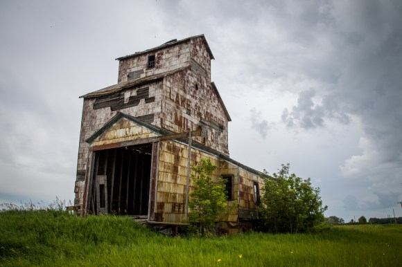 The exquisite Elva grain elevator - believed to be one of the oldest in Canada was built in 1897.