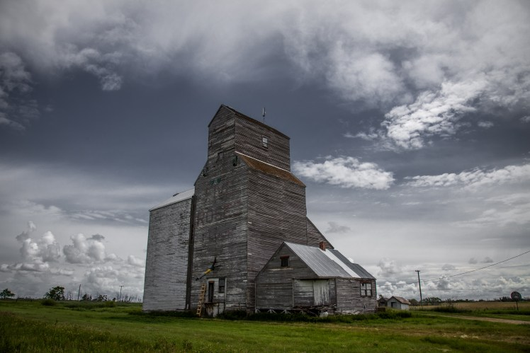 Tilston grain elevator, abandoned Manitoba.