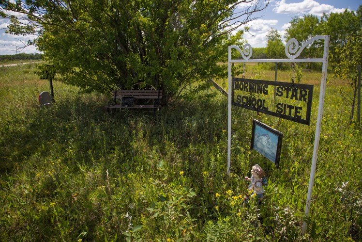 Morning Star School Site, abandoned Manitoba ghost town.