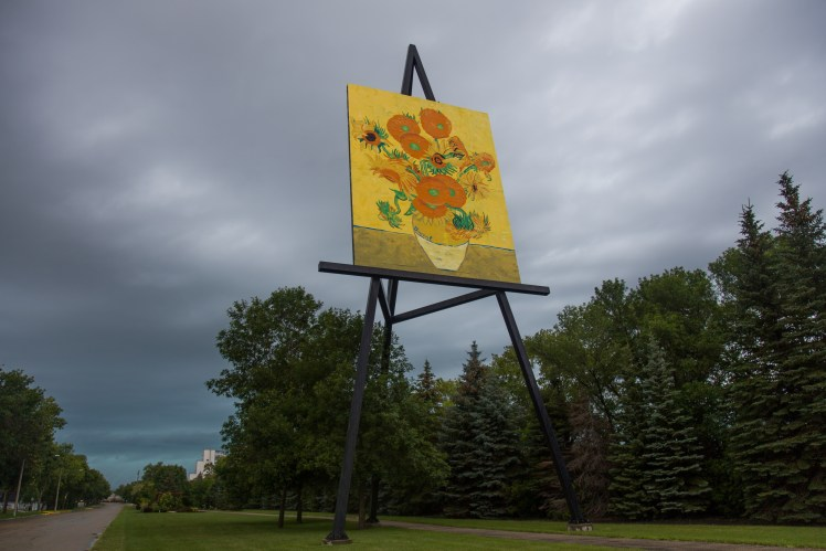 The Worlds Largest Painting on an Easel in Altona, Manitoba.