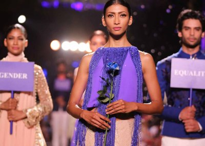 Blue Runway Fashion