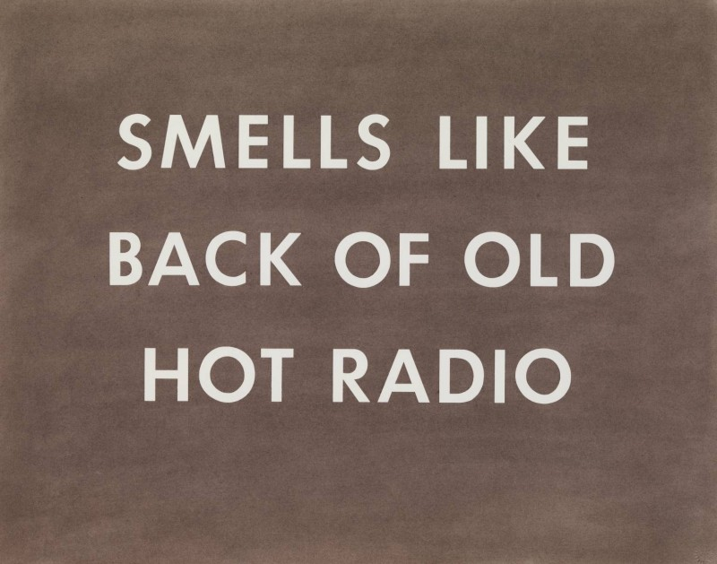 SMELLS LIKE BACK OF OLD HOT RADIO 1976 by Edward Ruscha born 1937