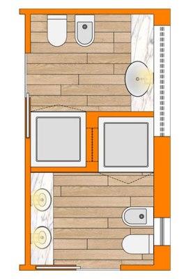 bagno lungo e stretto wevux scuola di interni soluzioni corridoio 03