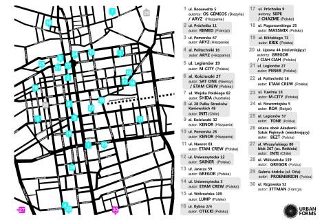 Mappa dei graffiti