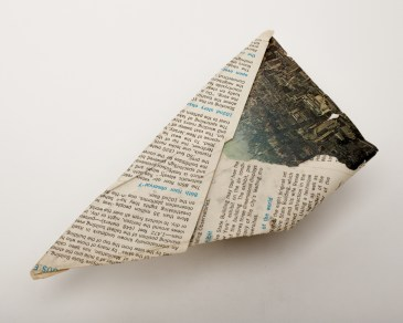 Paper airplane found on January 20, 1968 at Fifth Avenue between West 34th Street and West 35th