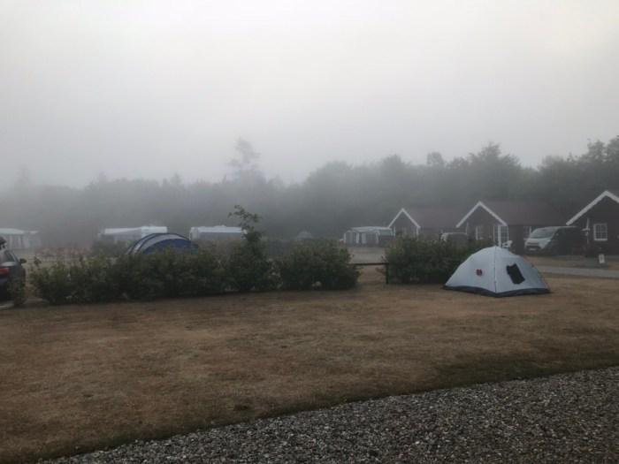 Den smukkeste morgen på Holme Å Camping