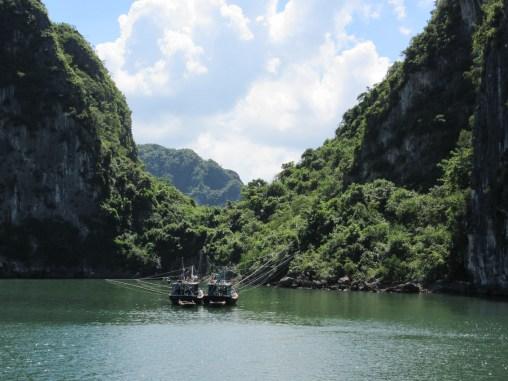 Fishing boat Halong Bay