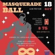 Fall Masquerade Fundraiser Reminder