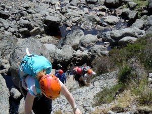 Unusually dry Mahon Falls