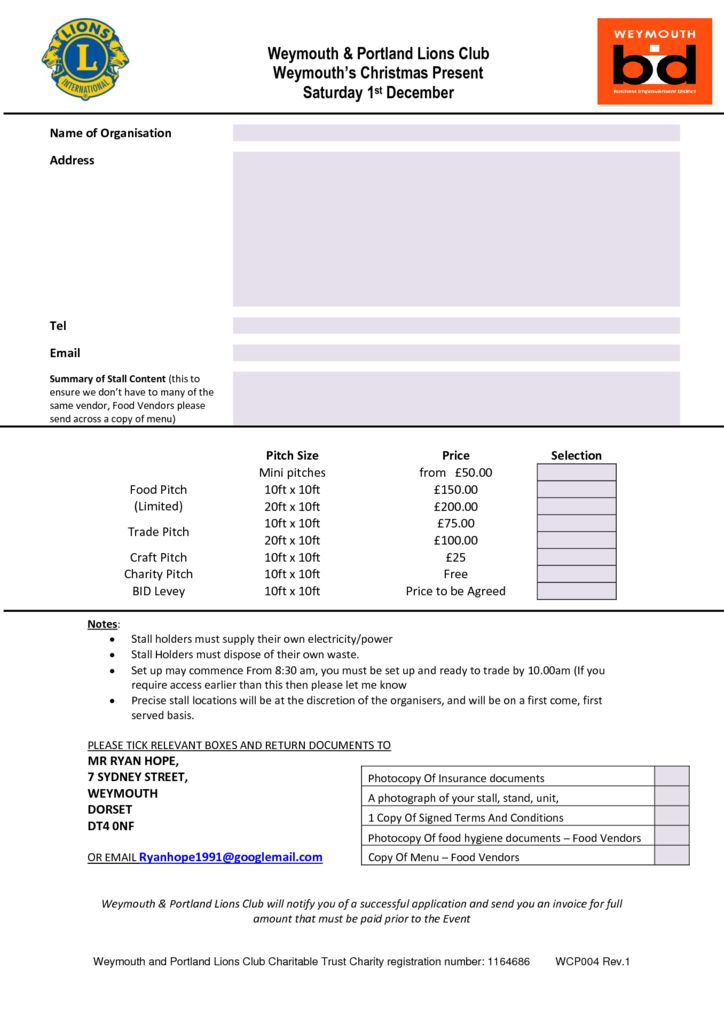 thumbnail of WCP004 – Weymouth Christmas Present Trade Stand Booking Form
